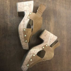"Franco Sarto ""kicks"" platform sandals"